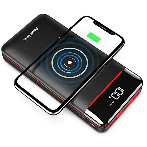Wireless Portable Charger 25000mAh Power Bank with 3 Outputs& 2 Inputs Huge Capacity Backup Battery...