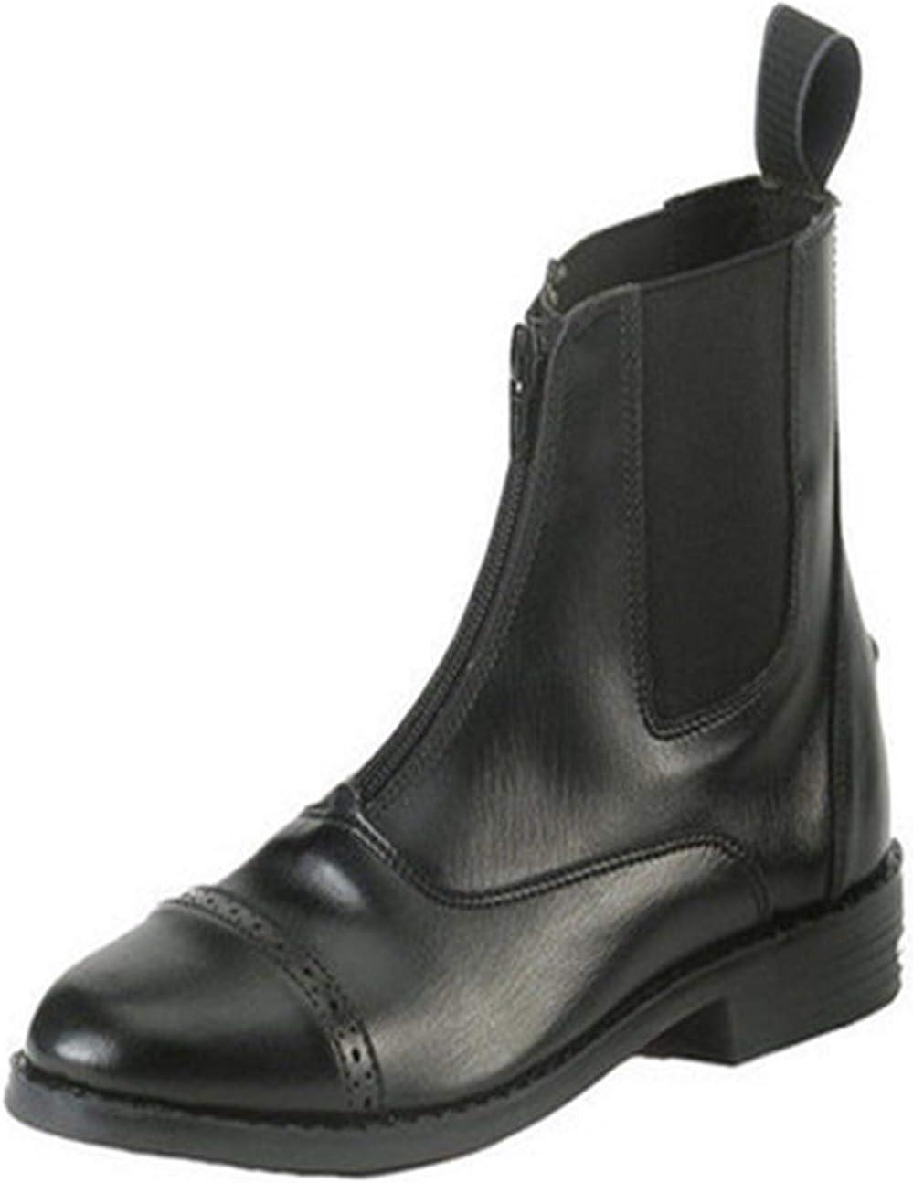 Equistar - Child's Zip Paddock Boot (All Weather) 3 Black