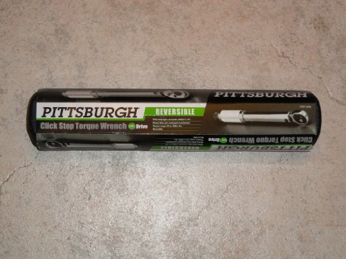 """1/4"""" Drive Click Stop Torque Wrench Reversible 20-200 lbs. with Carrying Case"""