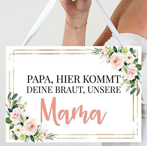 Schild für die Hochzeit