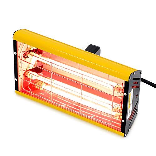 Ubrand 2000 W Infrarossi Vernice Curing Lampada Portatile Onda Corte Infrarossi Riscaldamento Lampada Auto Riparazione Vernice Dryer (Giallo) (220 V EU)