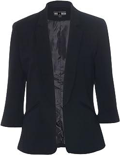 EX NEW Warehouse 8-16 Black Summer Textured Smart//Casual Trendy Blazer Jacket