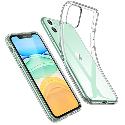 ESR Coque Compatible avec iPhone 11, Bumper Housse Etui de Protection Transparent en Silicone TPU Souple Ultra Fin, Transparent.