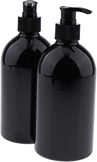 SM SunniMix Dispenser per Shampoo E Balsamo Ricaricabile Da 2 Pezzi, 500 Ml, Doccia Vuota, Bottiglie di Plastica con Pompa...