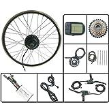 GJZhuan Bicicleta eléctrica Kit de Ruedas Trasero 48V350W Bicicleta eléctrica Kit de conversión con LCD5 700C Display 16-28 Pulgadas E-Bici Kit,27.5inch LCD Sets
