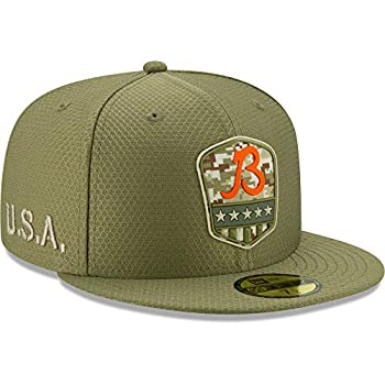 New Era Men s Olive Chicago Bears B 2019 Salute to Service Sideline 59FIFTY Fitted Hat