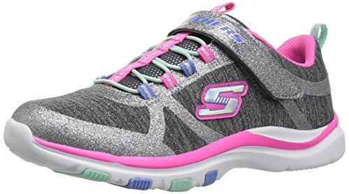 Skechers Kinder - Trainer Lite - Jazzy Jumper - 81485L - Charcoal Hot pink, Schuhgröße:EUR 34