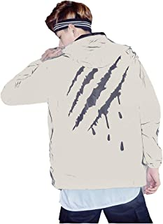 Edgogvl Men's Outwear 3M Reflective Zipper Hooded Windbreaker Lightweight Running Jacket