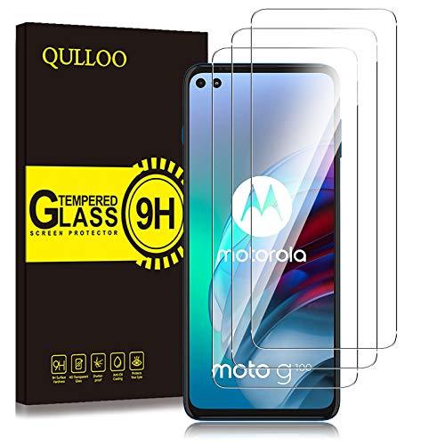 QULLOO Protector de Pantalla Motorola Moto G100 / Moto G 5G Plus, Cristal...