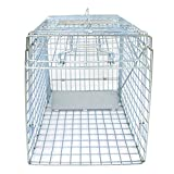 HomGarden Humane Live Animal Cage Trap 32inch Steel Catch Release Rodent Cage for Rabbits, Groundhog, Stray Cat,...