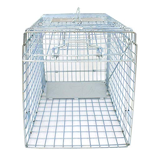 HomGarden Humane Live Animal Cage Trap 32inch Steel Catch Release Rodent Cage for Rabbits,...