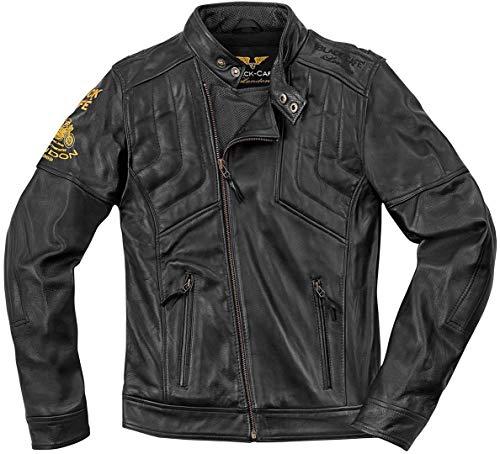 Black-Cafe London Sari Veste de moto en cuir Schwarz 48