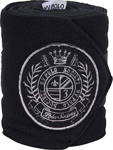 HV Polo Favouritas Fleece Bandagen 4er Set Klettverschluss Gr. VB/WB (black)