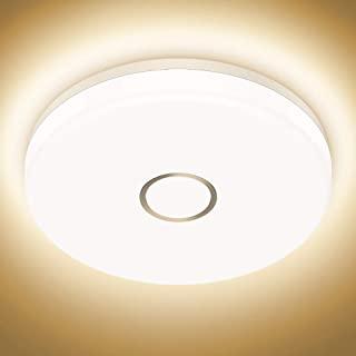 Onforu 32W 3200LM Plafonnier LED, 2700K Blanc Chaud Lampe de Plafond,IP54 Imperméable Moderne Rond Plafonnier 28,6cm, IRC9...