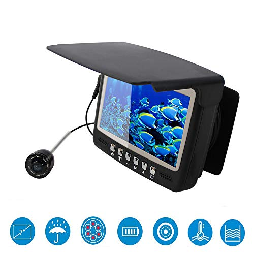 HOODIE Draagbare Vissen Finder Camera Onderwater Vissen Camera HD1000 TVL Infrarood LED Waterdichte Camera Met 3,5 Inch LCD Monitor Voor Ice Kayak Lake Zee Boot
