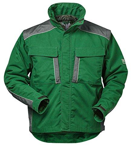 Elysee Canvas Winterjacke Arbeitsjacke Outdoorjacke, hochwertig mit vielen Taschen (M, Grün/Grau)
