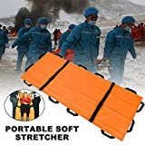 Simple Oxford Cloth Soft Stretcher, Ultra Light Waterproof and Foldable Emergency Rescue Back Stretcher with 12 Handles for...