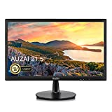 AUZAI 21.5 inch Computer Monitor, 1080p FHD LED Computer Monitor for Business 75Hz 5ms with VESA Mounting Eye Care Anti Glare Panel Tilt HDMI VGA Port, Black