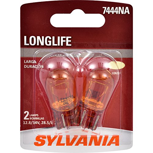 SYLVANIA - 7444NA Long Life Miniature - Amber Bulb, Ideal for Turn Signal Applications, Side Marker, and Parking. (Contains 2 Bulbs)