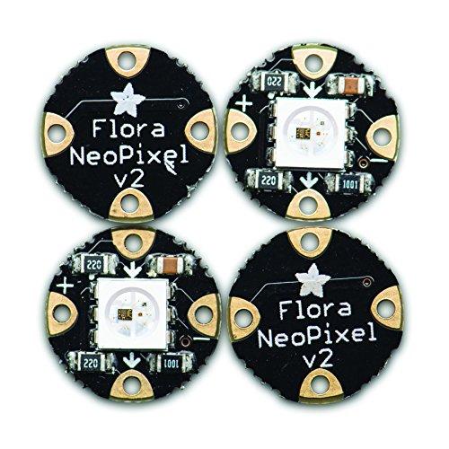 Adafruit Flora RGB Smart NeoPixel Version 2 - Pack of 4 [ADA1260]