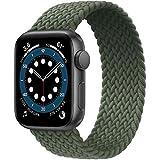 jonwin solo loop intrecciato compatibile con cinturino apple watch 38 40mm,di ricambio sportivo in fibra di silicone intrecciato elastico per nylon cinturino per iwatch serie 6/5/4/3,se,green,9#
