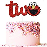 Artczlay happy birthday cake topper sesame street party cake decoration wild baby birthday party (two)