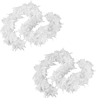 white feather boas with silver tinsel