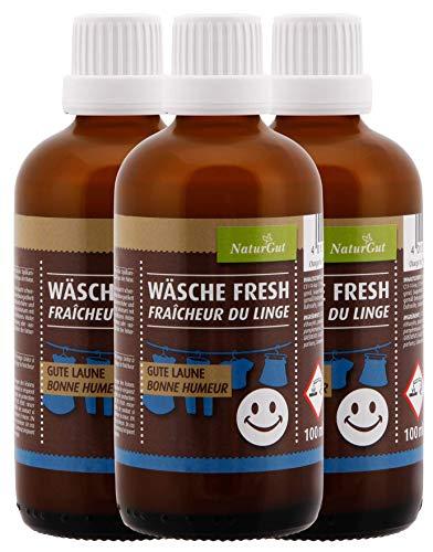 NaturGut Wäsche Fresh Gute Laune Wäscheduft Wäscheparfüm Duft Blumenduft blumig 3x100ml Sparpaket