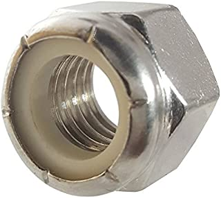 7/16-20 Nylon Insert Hex Lock Nuts, Stainless Steel 18-8, Plain Finish, Quantity 25 by Fastenere