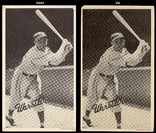 1936 Goudey R314 wide pen type 1 (Baseball) Card# 115 rabbit warstler/batting of the Boston Braves VGX Condition