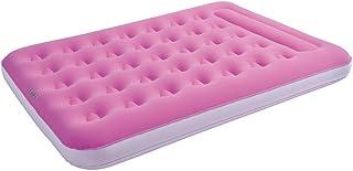 Jilong Unisex - Cama de Camping para Adultos 2 Personas Easigo Pink 190 x 135 x 22 Terciopelo colchón de Aire Cama de Invitados Cama de Viaje Personas