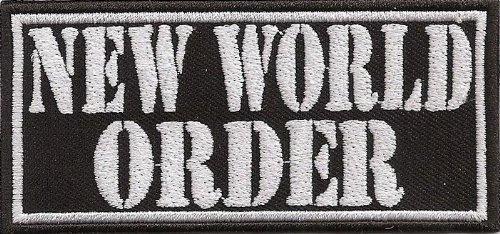 NEW WORLD ORDER, Bilderberger, Heavy Metal Biker Rocker Aufnäher Patch Abzeichen