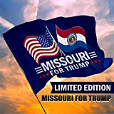Republican Dogs Missouri for Trump Limited Edition Dual Flags 3 x 5 Feet with Grommets