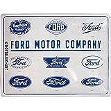 Nostalgic-Art Retro Blechschild Ford – Logo Evolution –