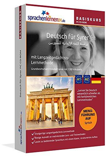 Deutsch lernen für Syrer: Software zum Deutschlernen mit Menüführung auf Syrisch