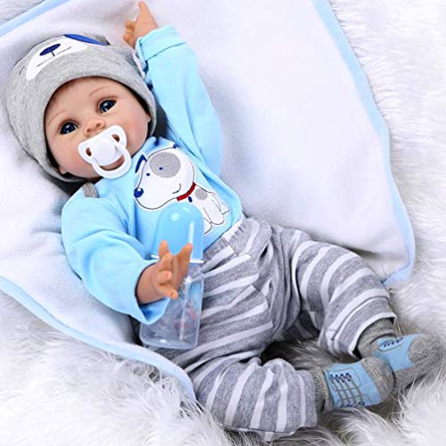 ZIYIUI 55 cm Mu/ñecas Reborn Baby Mu/ñeca Ni/ña Dolls de Silicona para beb/és Juguetes Simulaci/ón Reborn Baby Doll Toy Gifts