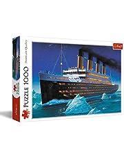 Trefl, Puzzel Titanic, 1000 stukjes, met schip, voor kinderen vanaf 12 jaar