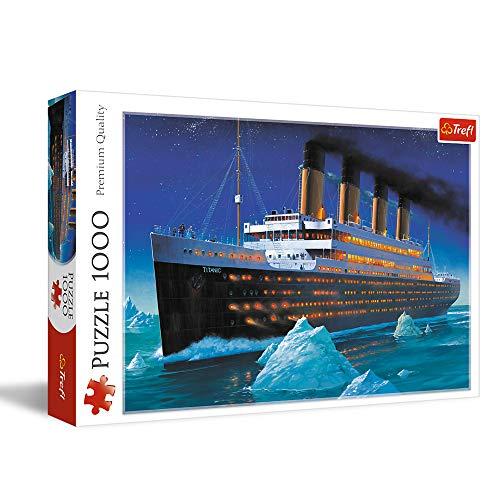 Trefl 10080, Premium Quality, für Erwachsene, Puzzle, Titanic, 1000 Teile, mit Schiff, für Kinder ab 12 Jahren, Farbig
