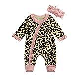 Newborn Baby Boy Girl Zipper Footed Pajamas...