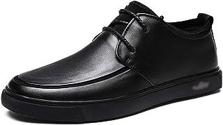 Kirabon Zapatos de Hombre Casuales, Zapatos Individuales, Vestido de Negocios, Zapatos de Cuero, Zapatos de tamaño pequeño, Hombres. (Color : Negro, Size : 44)