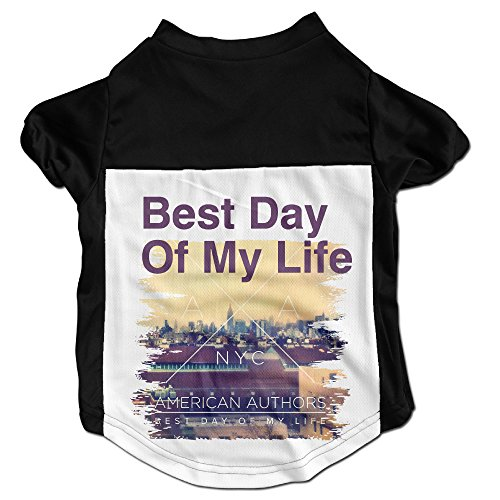 TOMM Cute American Authors Best Day Of My Life Vest For Puss & Doggy Size M Color Black