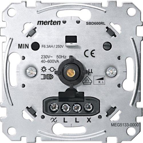 Merten MEG5133-0000 Drehdimmer-Einsatz für induktive Last, 40-600 W/VA