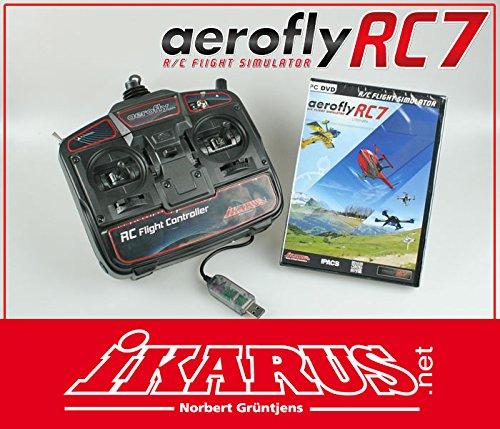 IKARUS aeroflyRC7 ULTIMATE simulation de vol PC Noir - Accessoires de jeux vidéo (simulation de vol, PC, Avec fil, USB 2.0, Noir)