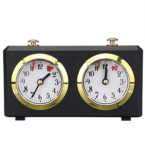 Reloj de ajedrez analógico profesional, temporizador de cuenta atrás, reloj mecánico para ajedrez chino, ajedrez internacional y I-GO