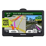 Car GPS Navigation, 7-inch car 256Mb-8GB Voice Navigation, Voice Steering Prompt, Free map Update for Lifetime, Suitable for All Vehicles