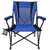 Kijaro Dual Lock Hard Arm Portable Camping and Sports Chair, Maldives Blue
