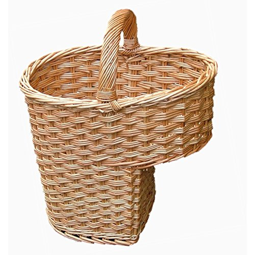 Somerset Levels Wicker Stair Basket - Buff Willow