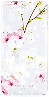 Ted Baker SS17 Fashion Mirror Folio Case for iPhone 8 Plus / 7 Plus, Protective Wallet iPhone 8 Plus / 7 Plus Cover for Professional Women - AMMAA - Oriental Blossom