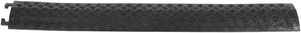 black Pasacables De Suelo Para Protecci/ón De Cables El/éctricos Canaleta Pasacables Para Suelo Reductor De Velocidad Pasacables De Suelo Para Protecci/ón De Cables El/éctricos 1 V/ía 95 x 13 x 1.6 cm
