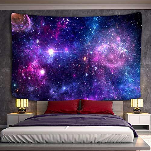 KHKJ Tapiz patrón psicodélico Alfombra de Tiro de Yoga Hippie Decoración para el hogar Tapiz de Pared Manta Galaxy Tapiz de Pared Colgante A18 200x150cm